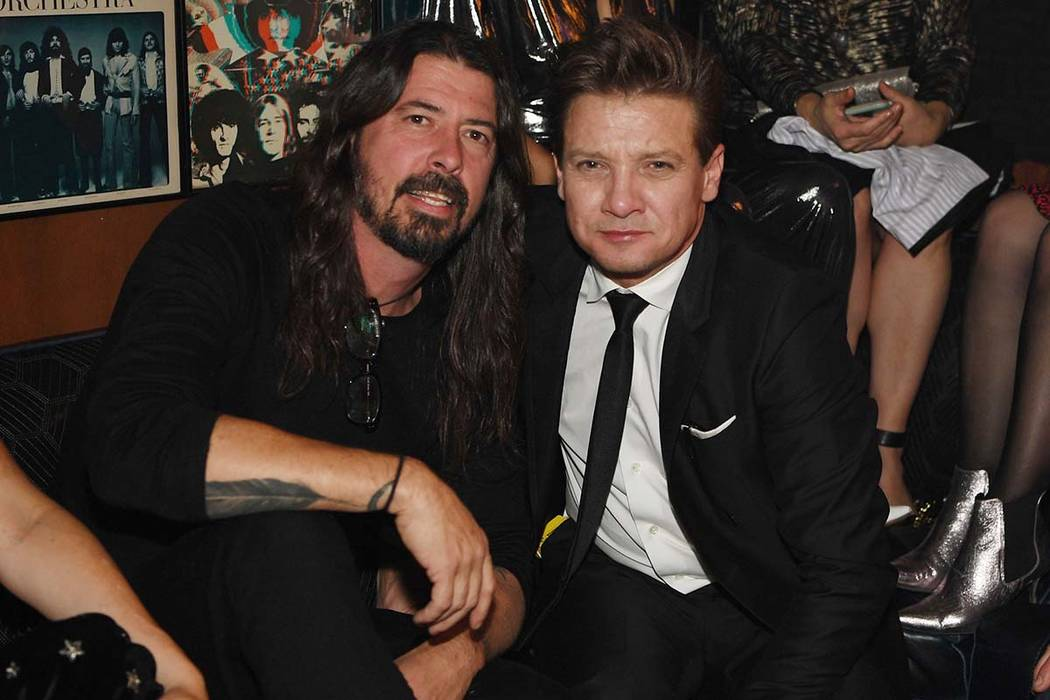 Dave Grohl and Jeremy Renner attend Lady Gaga's residency after-party at On The Record Speakeasy And Club at Park MGM on Dec. 28, 2018 in Las Vegas, Nevada. (Photo by Denise Truscello/Getty Image ...