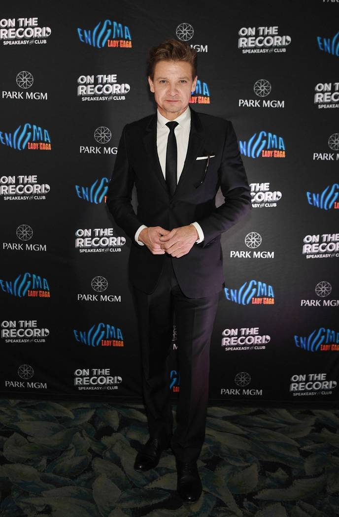 Jeremy Renner arrives at Park MGM Grand opening weekend with Lady Gaga residency after-party at On The Record Speakeasy And ClubÊat Park MGM .on December 28, 2018 in Las Vegas, Nevada. (Photo by ...