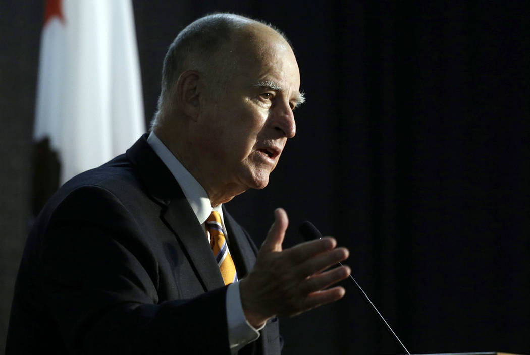 In this June 29, 2018, file photo, California Gov. Jerry Brown speaks at a forum in Sacramento, Calif. (AP Photo/Rich Pedroncelli)
