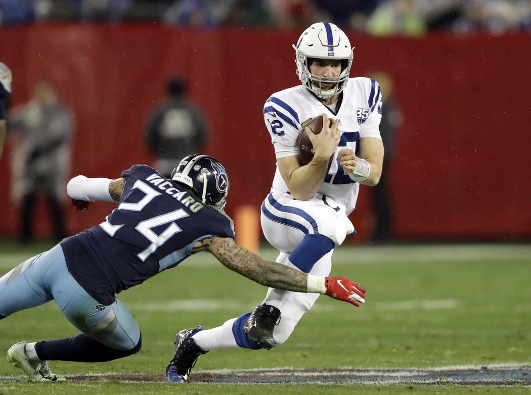 Colts top Titans, capture last NFL playoff spot | Las ...