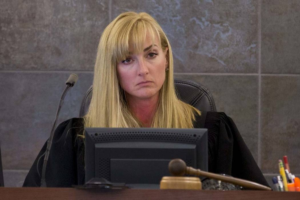 Judge Stefany A. Miley during a trial at the Regional Justice Center in Las Vegas, Thursday, June 29, 2017. Elizabeth Brumley Las Vegas Review-Journal