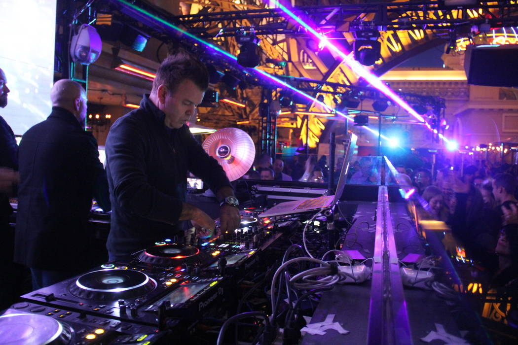 Paul Oakenfold performs at Chateau at Paris Las Vegas on Sunday, Dec. 30, 2018. (Chateau)