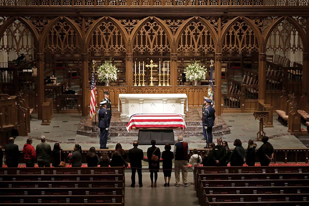Final service begins in Texas for George H.W. Bush — LIVESTREAM