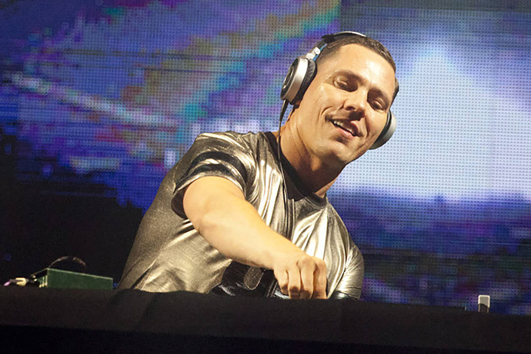 DJ Tiesto performs during a concert at the Presidente Festival at the Olympic Stadium in Santo Domingo, Dominican Republic on Oct. 3, 2014. DJ Tiesta join Afrojack, David Guetta and other EDM act ...