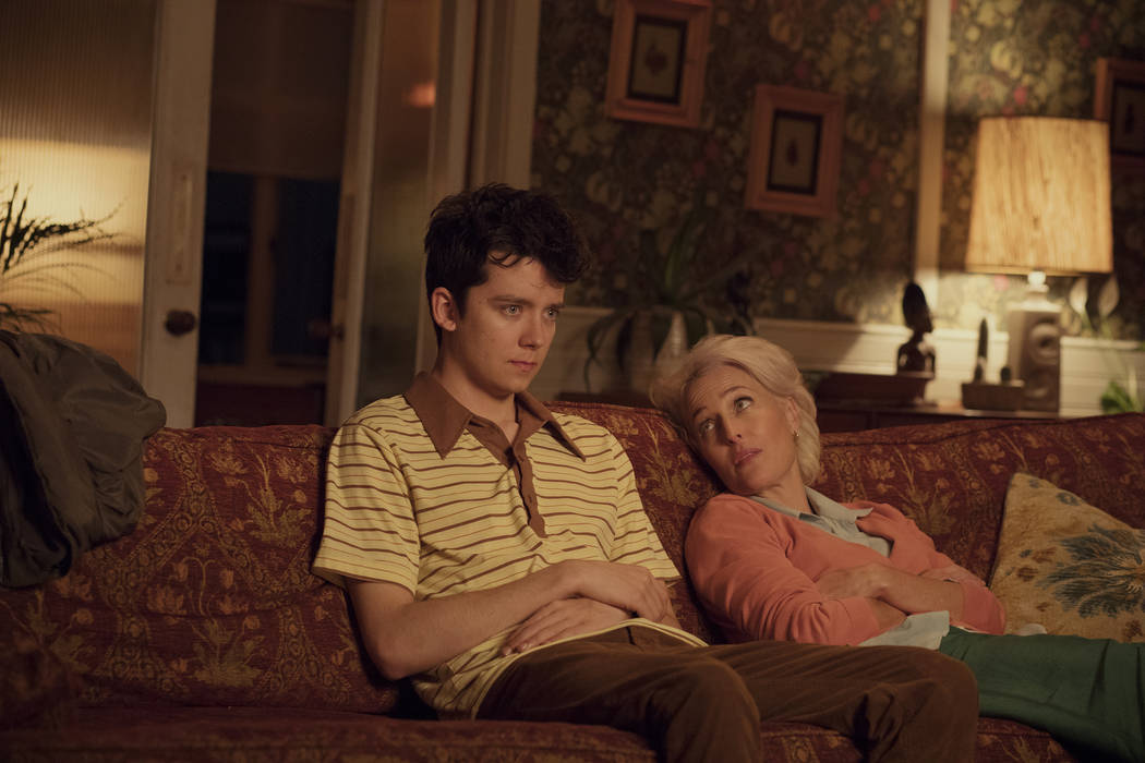 """Asa Butterfield and Gillian Anderson star in Netflix's """"Sex Education."""" (Sam Taylor/Netflix)"""