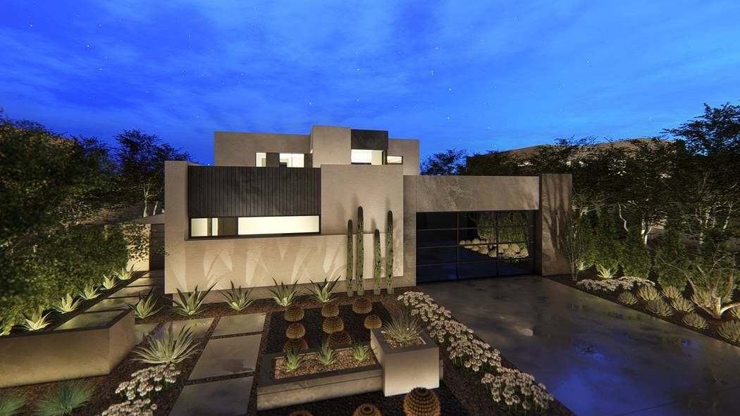 Pictured is a rendering of one of Blue Heron's new homes at Vantage in Lake Las Vegas. Vantage will begin accepting reservations next weekend at the Lake Las Vegas Sports Club during the builder ...