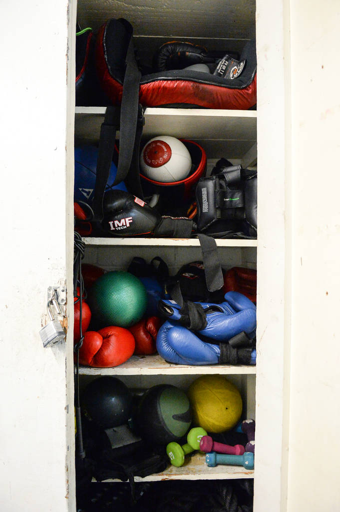 Various workout equipment is available for patrons at Johnny Tocco's Ring Side Boxing Gym in Las Vegas, Thursday, Dec. 27, 2018. Caroline Brehman/Las Vegas Review-Journal