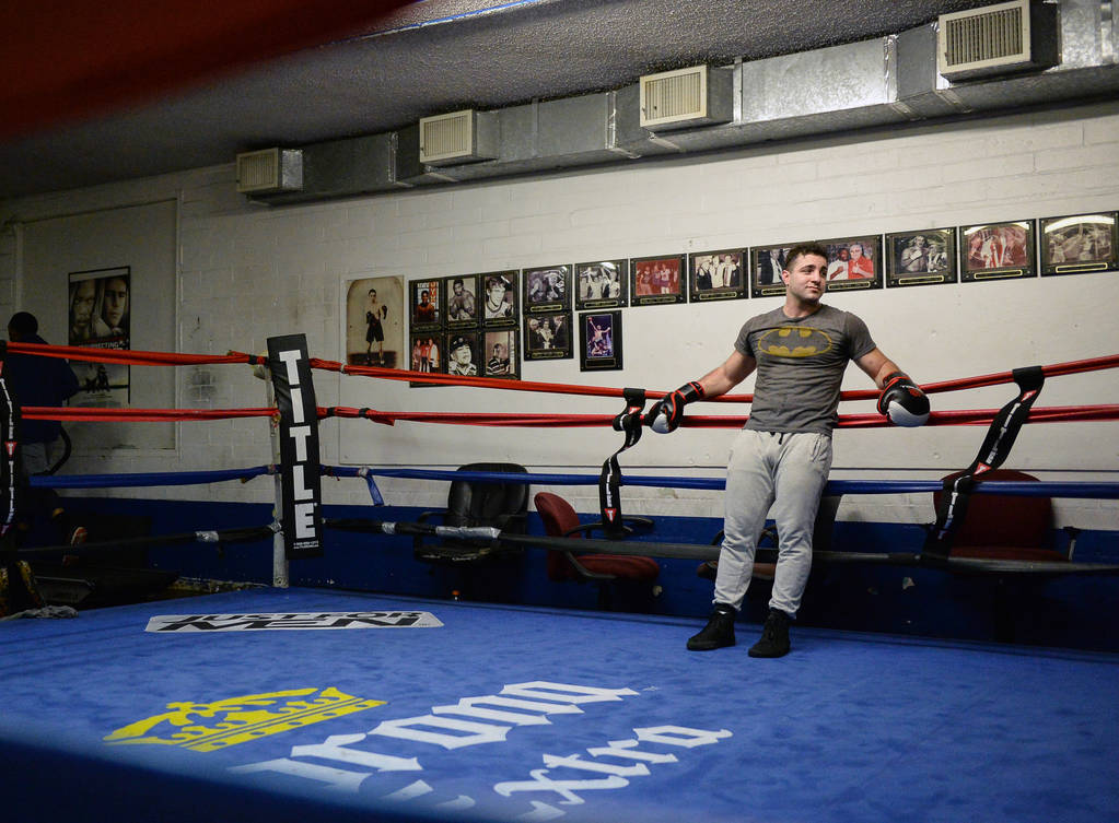 Raji Swidan stands in a boxing ring after working out at Johnny Tocco's Ring Side Boxing Gym in Las Vegas, Thursday, Dec. 27, 2018. Caroline Brehman/Las Vegas Review-Journal