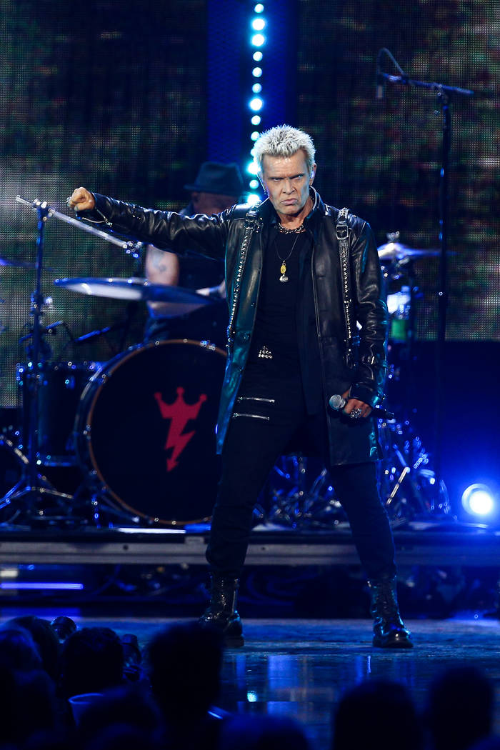 Billy Idol performs at the 2016 iHeartRadio Music Festival - Day 1 held at T-Mobile Arena on Friday, Sept. 23, 2016, in Las Vegas. (Photo by John Salangsang/Invision/AP)