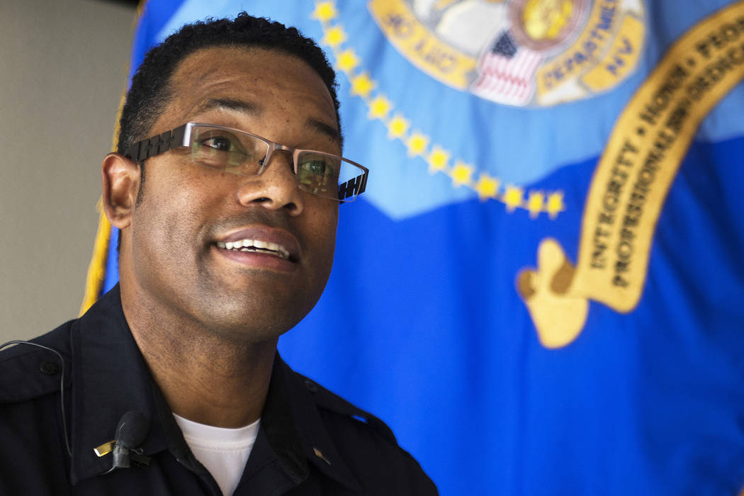 Henderson police Lt. Kirk Moore speaks to the Las Vegas Review-Journal in Henderson on Thursday, Jan. 3, 2019. Henderson saw a record number of homicides in 2018. Rachel Aston Las Vegas Review-Jou ...
