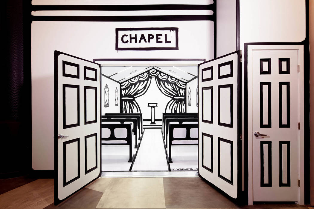 "The ""White Wedding"" chapel at Pearl Theater at the Palms is located in the Pearl Theater lobby. Clint Jenkins"