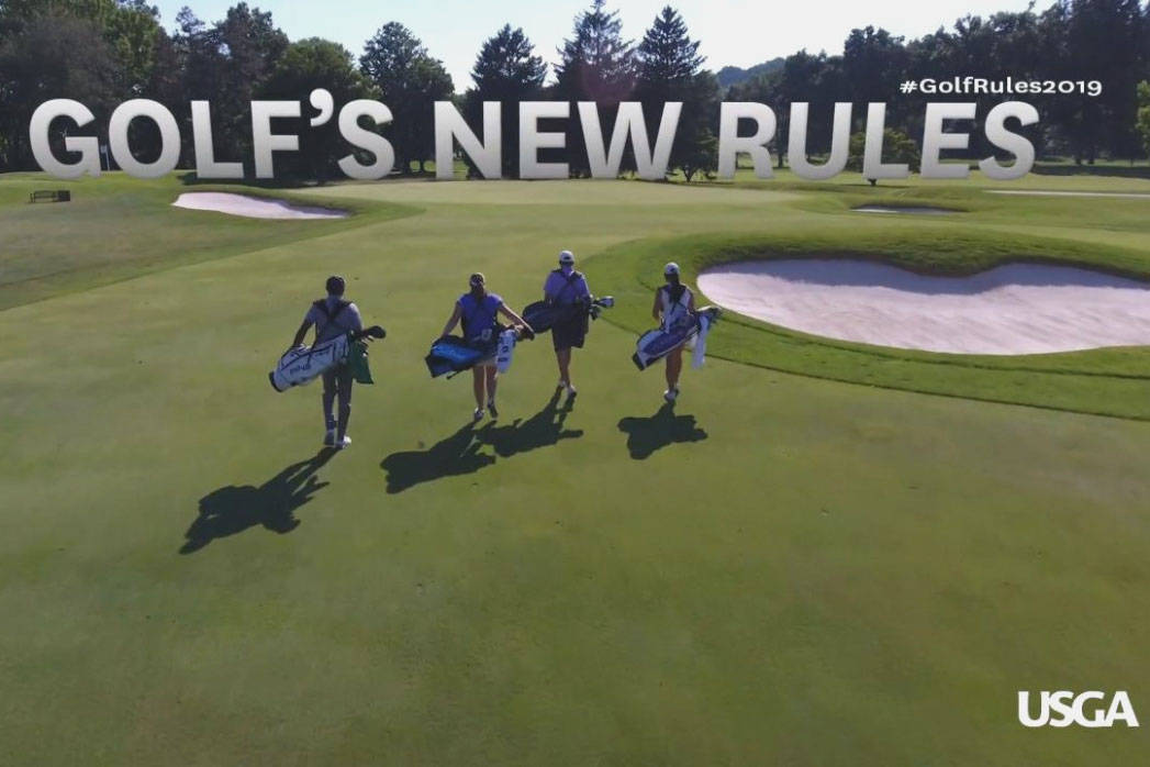 Modernizing, simplifying and speeding up play are the goals for golf's new rules, which went info effect Jan. 1. Courtesy USGA.