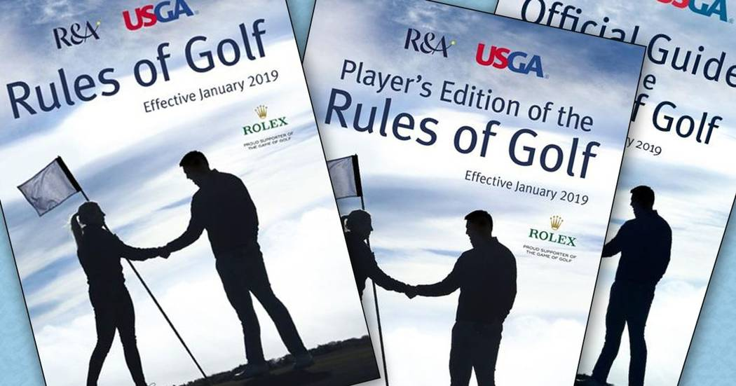 The two major golf ruling bodies, the USGA and R & A, have officially released new golf rules for 2019 and beyond. Courtesy USGA.
