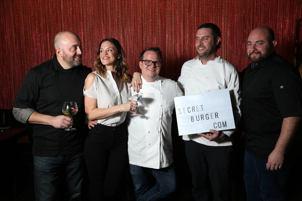 Chefs from left, Justin Hall, Jolene Mannina, Brian Howard, Daniel Krohmer, and Josh Clark, pose for a photo at EDO Gastro Tapas and Wine Restaurant in Las Vegas, Thursday, Dec. 27, 2018. Erik Ver ...