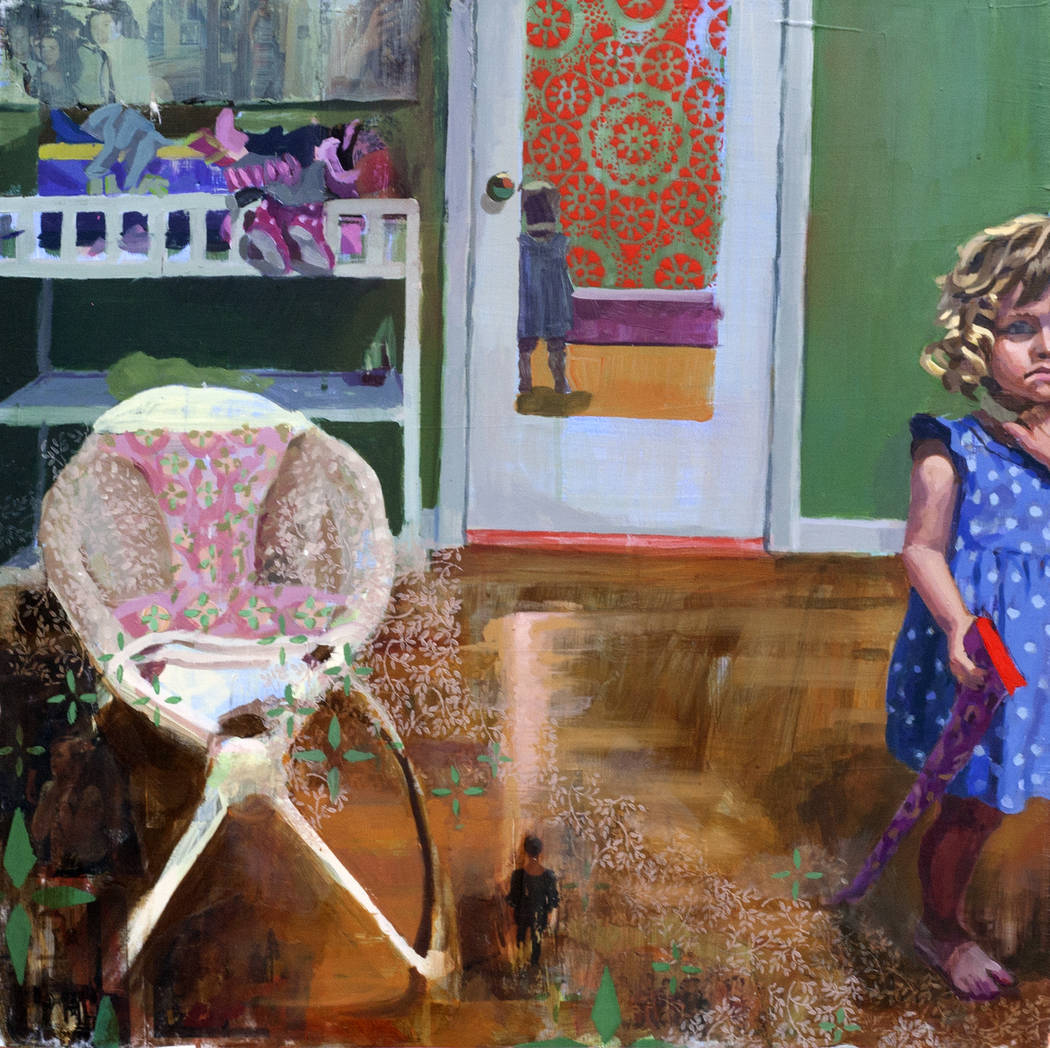 """It Is a Girl II"" by Danielle Muzina will be on display in the new juried art exhibition opening at Core Contemporary Gallery."