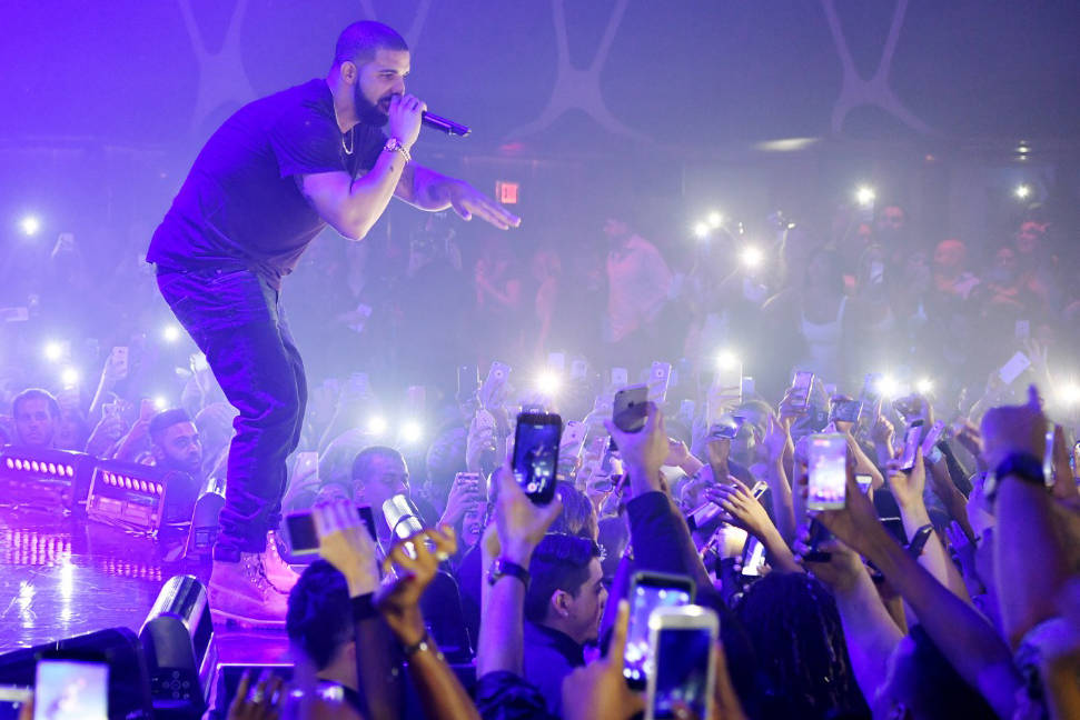 Drake performs at Hakkasan nightclub in Las Vegas. (Denise Truscello/WireImage)