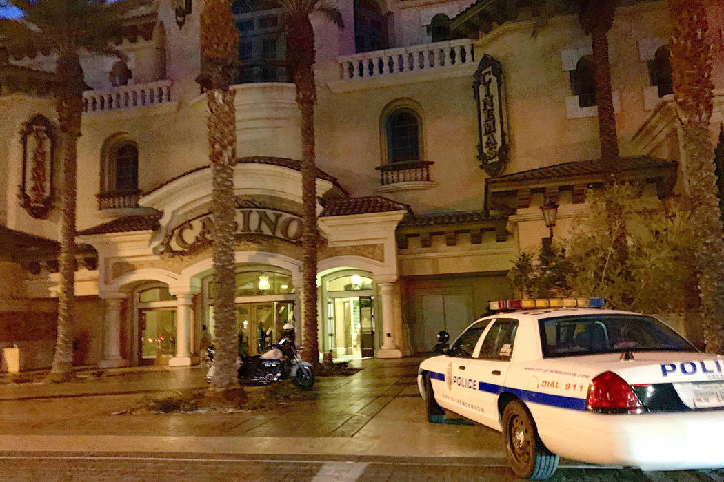 Henderson police respond to reports of a possible shooting at Green Valley Ranch casino on Tuesday, Jan. 1, 2019. (Mick Akers/Las Vegas Review-Journal)