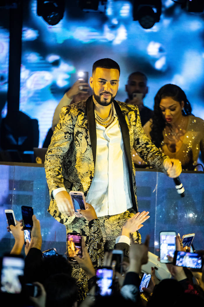 French Montana counts down to 2019 at Marquee Nightclub at the Cosmopolitan of Las Vegas. (Joe Fury/Global Media Group)