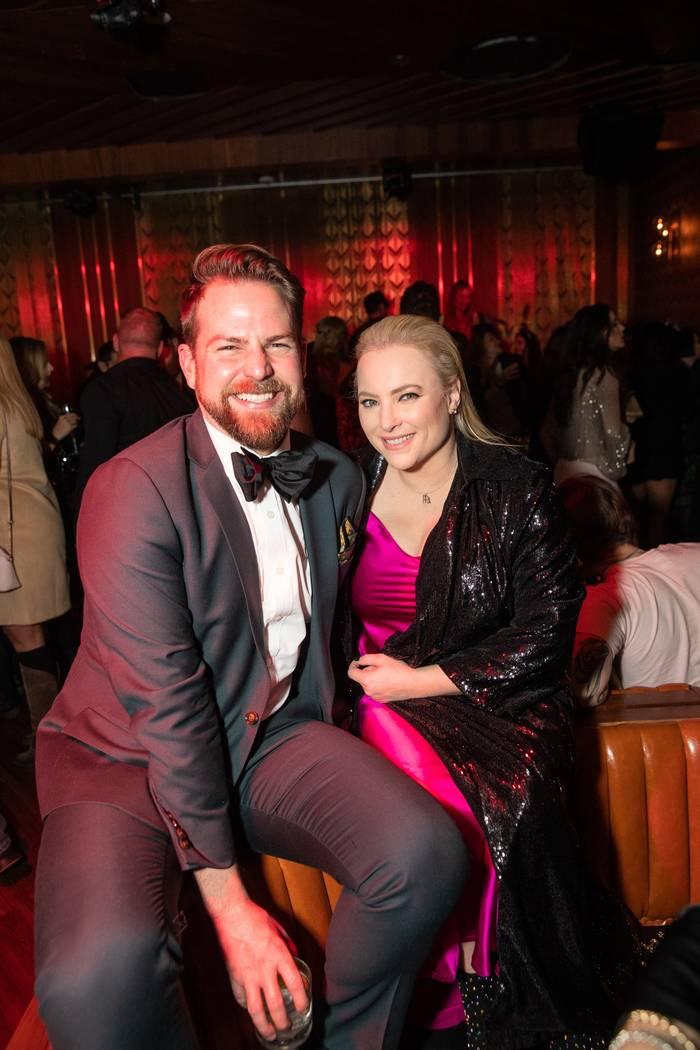 Megan McCain and a family friend are shown at On The Record at the Park MGM on New Year's Eve 2018. (Tony Tran)