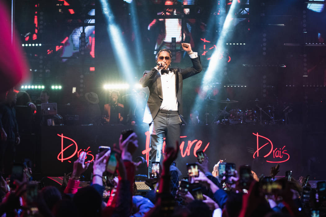 Future headlines New Year's Eve 2018 at Drai's Nightclub at the Cromwell on the Las Vegas Strip. (Mike Kirschbaum)