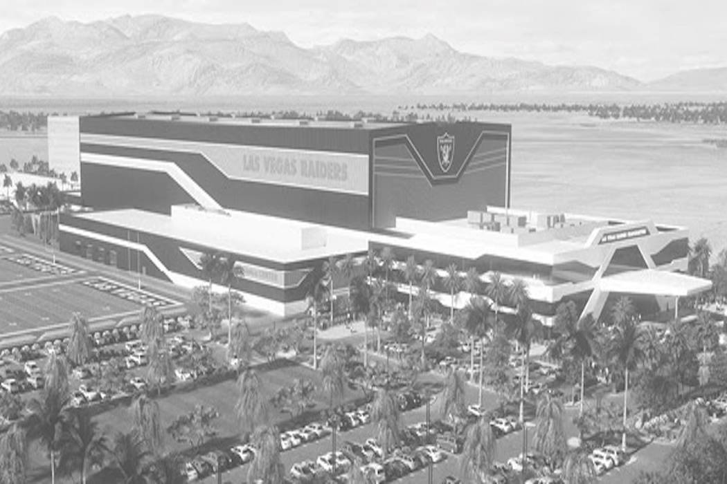 A rendering of the Raiders future headquarters facility in Henderson. (Raiders)