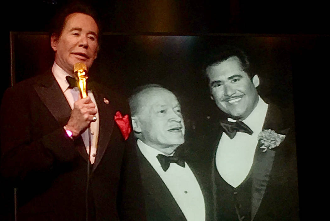 """Wayne Newton talks of taking over for Bob Hope as Chairman of the USO Celebrity Circle during a performance of """"Up Close & Personal"""" at Windows Showroom at Bally's. (John Katsilometes/Las Vegas Re ..."""
