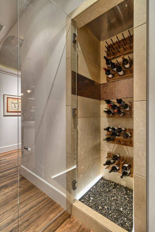 Penthouse 4702 features a temperature-controlled wine refrigerator. (Award Realty)