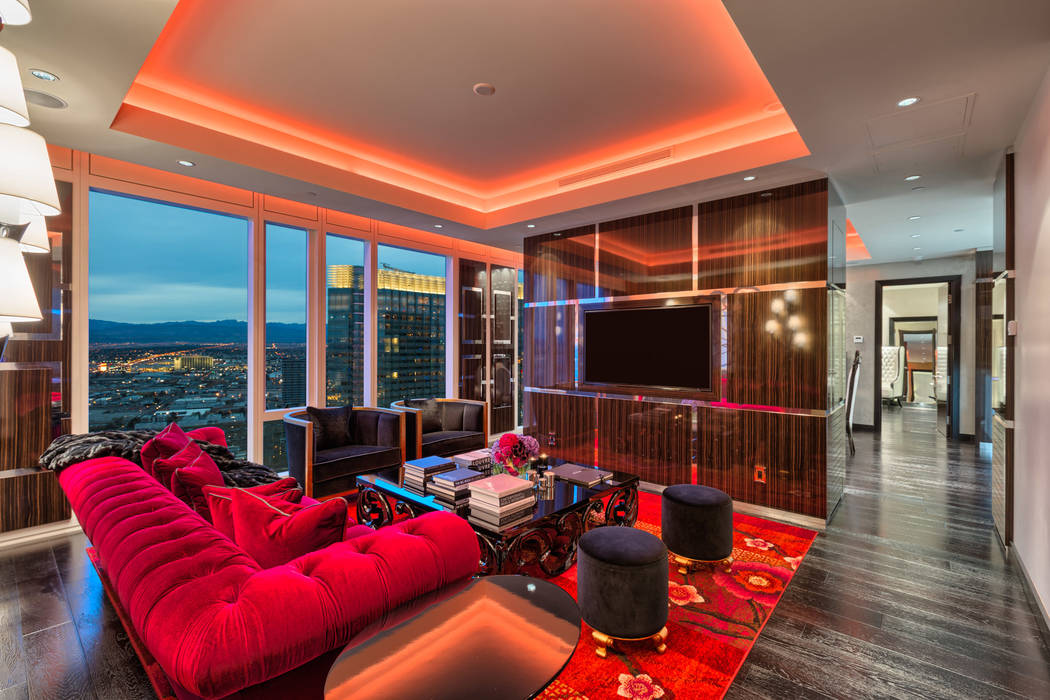Waldorf Astoria penthouse No. 4107 is fully furnished, and is listed for $3.99 million. (Luxury Estates International)