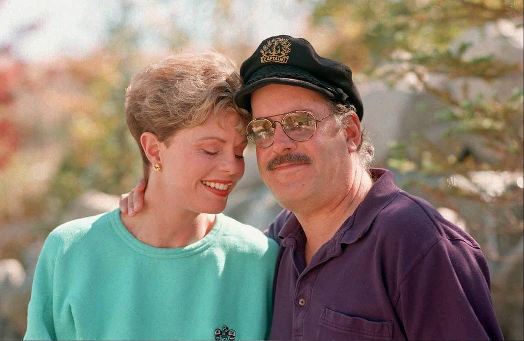 Toni Tennille, left, and Daryl Dragon, the singing duo The Captain and Tennille, posing during an interview in at their home in Washoe Valley, south of Reno, Nev. on Oct. 25, 1995. (AP Photo/David ...