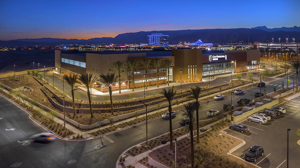 The Vegas Golden Knights have made their home in Summerlin since 2017 at City National Arena, the team's practice facility and administrative headquarters. (Summerlin