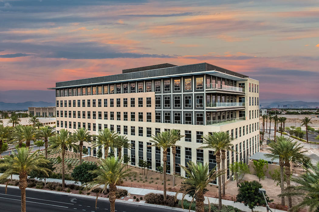 Two Summerlin, the second Class-A office tower at Downtown Summerlin, was completed this year. The tower spans 150,000 square feet on six floors. (Summerlin)