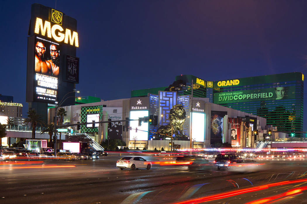 MGM Grand on the Strip in Las Vegas on Saturday, Dec. 15, 2018. (Richard Brian/Las Vegas Review-Journal) @vegasphotograph
