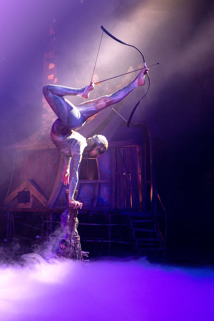 "A look at an act in ""Celestia."" The acrobatic production show opens Jan. 30, 2019. (Intrigue Shows)"