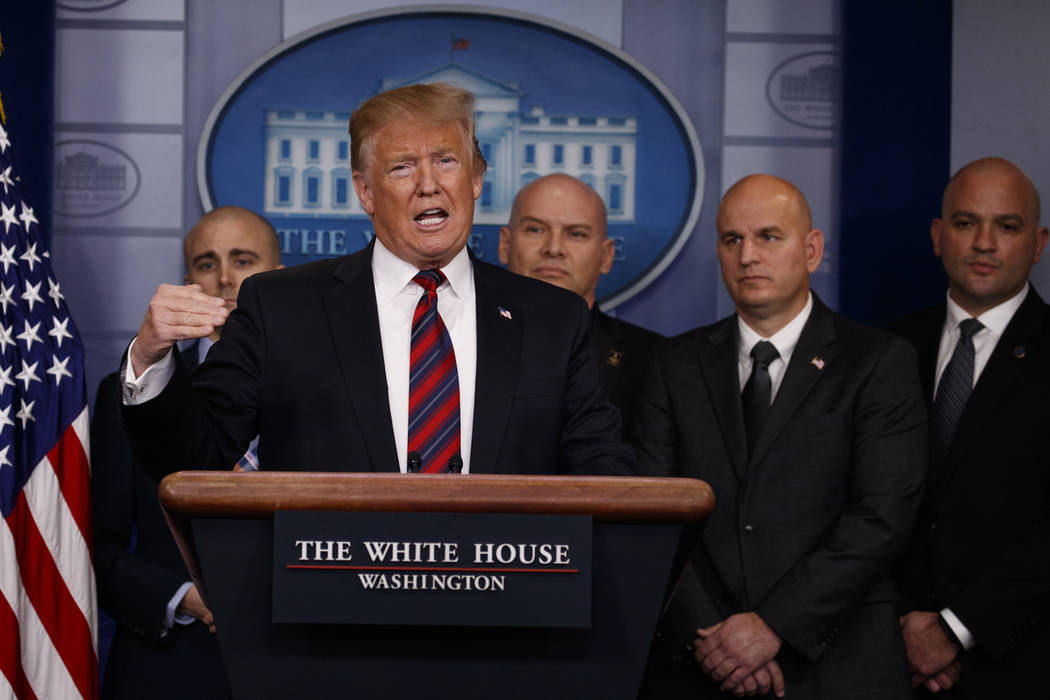 President Donald Trump speaks to reporters about border security in the briefing room of the White House, Thursday, Jan. 3, 2019, in Washington. (AP Photo/Evan Vucci)