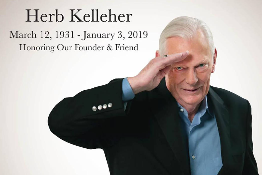 Herb Kelleher (from Southwest Airlines on Twitter)
