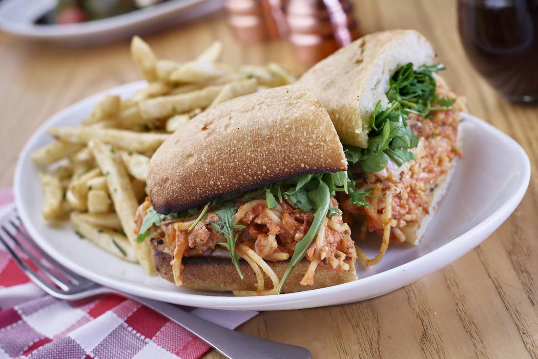 Spaghetti Sandwich at Flour & Barley