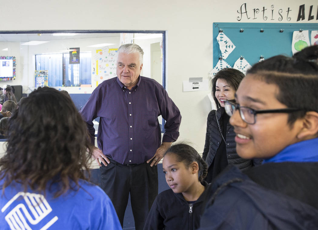 Governor-elect Steve Sisolak, left, and wife Kathy Sisolak tour the Boys & Girls Clubs of Southern Nevada on Thursday, Jan. 3, 2019, in Las Vegas. Benjamin Hager Las Vegas Review-Journal