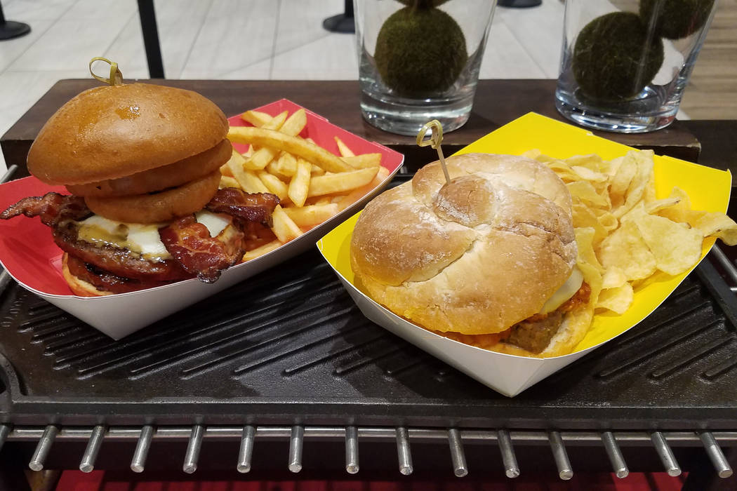 Centerplate's Bachi Burger is adding the Megabyte Miyagi Burger, which features two beef patties, bacon, cheese and a fried onion on a roll and served with French fries. Another home-cooked newc ...