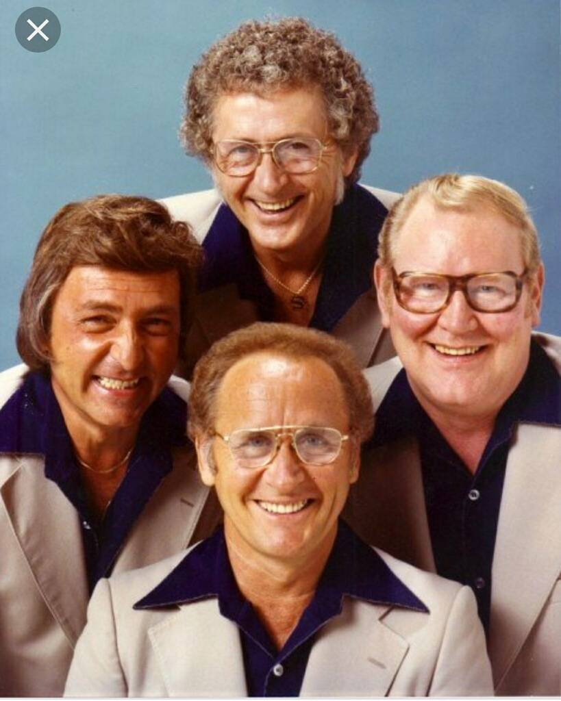 """William Austin """"Autie"""" Goodman (bottom center) with The Four Freshman. (Kris Goodman)"""