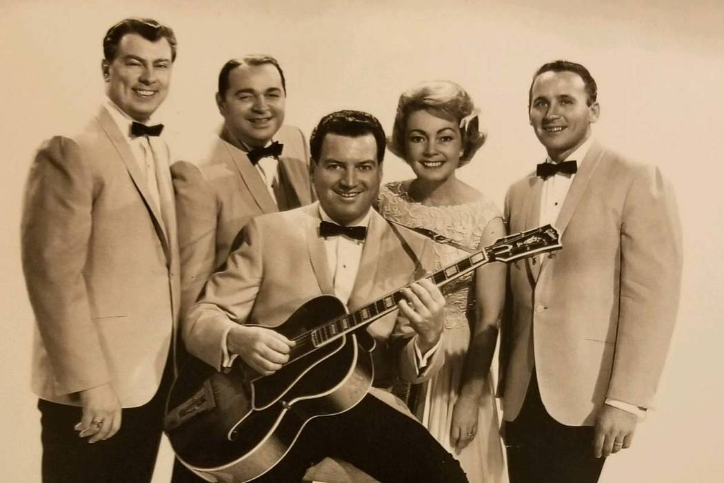 "William Austin ""Autie"" Goodman, far right, with his band, The Modernaires. (Kris Goodman)"