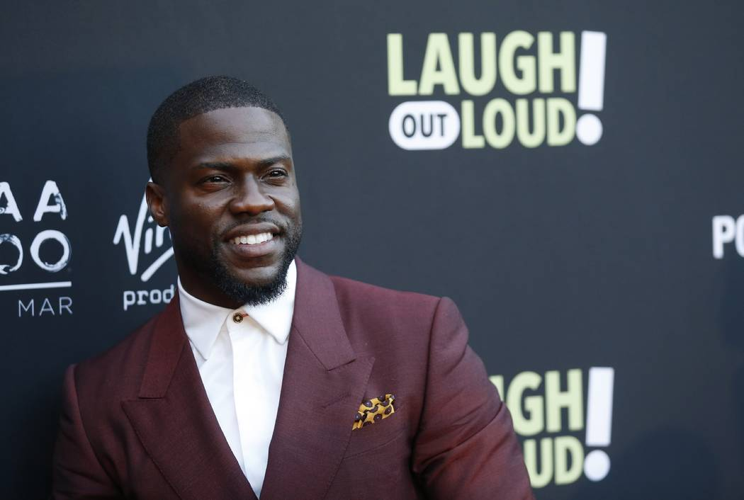 "Kevin Hart poses at Kevin Hart's ""Laugh Out Loud"" new streaming video network launch event at the Goldstein Residence in Beverly Hills, Calif. on Aug. 3, 2017. (Danny Moloshok/Invision/AP, File)"