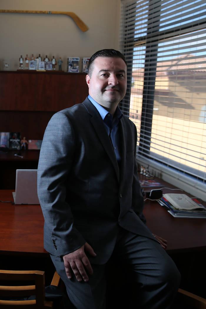 Matthew Holt, president of U.S. Integrity, at his Las Vegas office, Monday, Dec. 31, 2018. Erik Verduzco Las Vegas Review-Journal @Erik_Verduzco