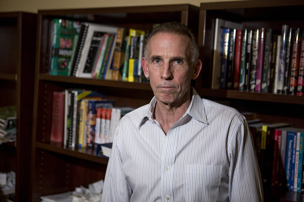 Anthony Curtis, a former professional gambler, in the offices of Huntington Press where he now works as a writer and publisher in Las Vegas on Friday, Jan. 19, 2018. Patrick Connolly Las Vegas Re ...