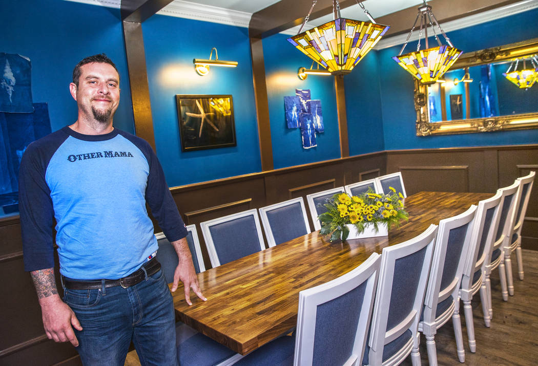 Chef Dan Krohmer in the private dining room at Other Mama on Friday, October 13, 2017, in Las Vegas. Benjamin Hager Las Vegas Review-Journal @benjaminhphoto