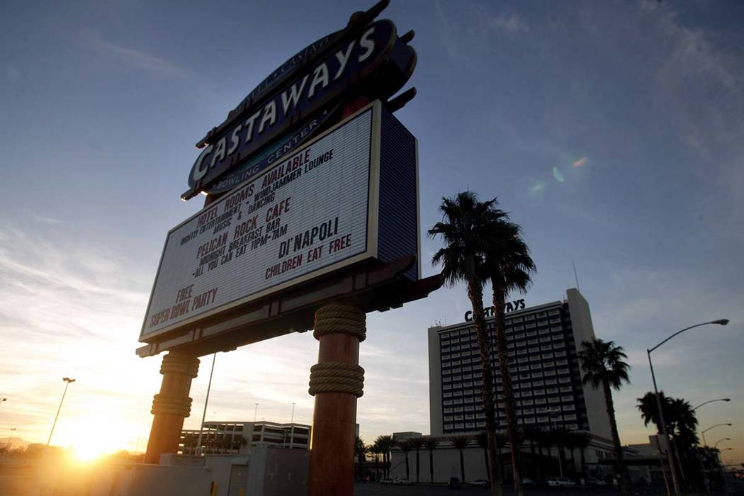 The Castaways Hotel and Casino, January 29, 2004. (Jeff Scheid/Las Vegas Review-Journal)