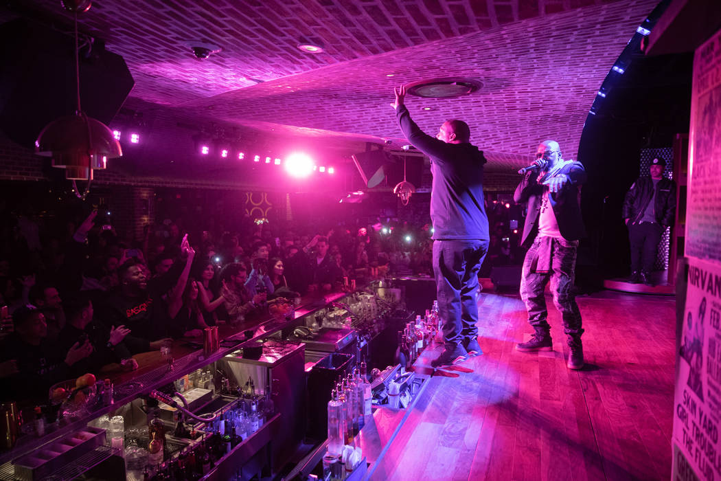 """Naughty By Nature performs during """"OTR Wednesdays,"""" On The Record's industry night launch party, on Wednesday, Jan. 2, 2019. (Tony Tran)"""