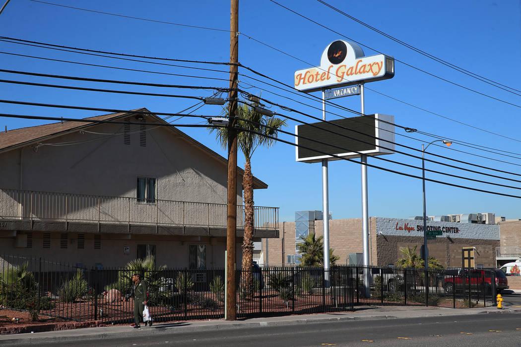Hotel Galaxy, 5201 Dean Martin Drive, in Las Vegas, Friday, Jan. 4, 2019. Erik Verduzco Las Vegas Review-Journal @Erik_Verduzco