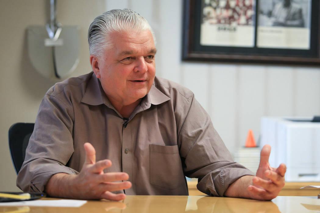 Clark County Commissioner Steve Sisolak in his office in Las Vegas on Thursday, Jan. 19, 2017. (Las Vegas Review-Journal)