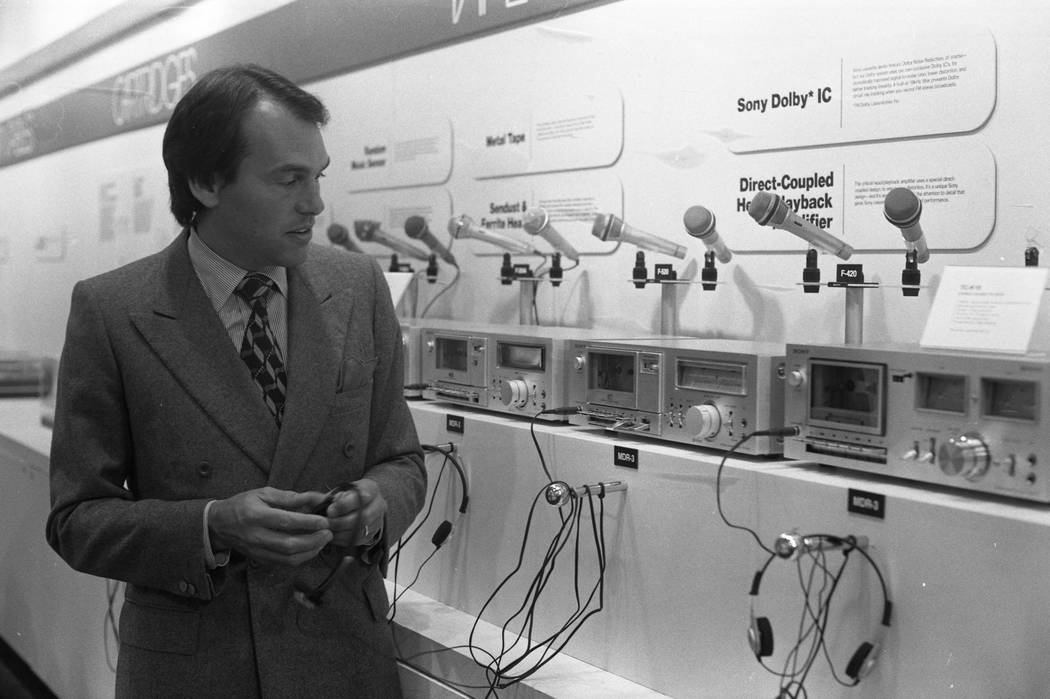 Before there were Beats, headphone displays like this one from Sony attracted plenty of attention at CES in 1980. (Scott Henry/Las Vegas Review-Journal)