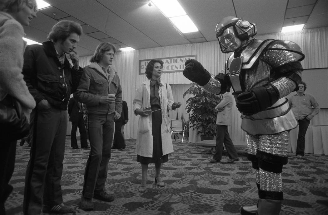 They knew robots were on the way in 1980, when this display was drawing attention at the Consumer Electronics Show at the Las Vegas Convention Center. (Scott Henry/Las Vegas Review-Journal)